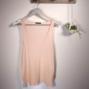 Soft peach ZARA tank top